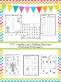 303 Counting and Writing Numbers Worksheets Download.  ZIP file. Preschool-KDG