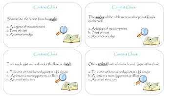 Multiple Meaning Word Sentence Cards with Multiple Choice Options (303 Cards)