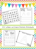 306 Letters and Sounds Worksheets Download. Preschool-Kindergarten. ZIP file