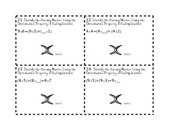 3.0A.5 Properties of Multiplication Task Cards