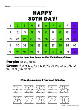 30th Day of School