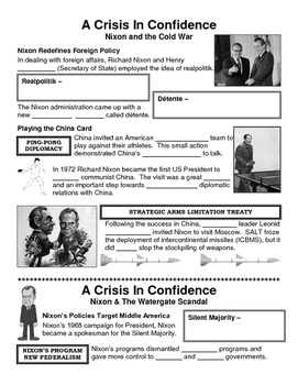 31 - A Crisis in Confidence - Scaffold/Guided Notes (Blank and Filled-In)