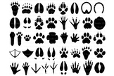 31 Animal Paw SVG, Paw Prints SVG Files for Silhouette Cameo and Cricut.