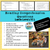 'Read to Self', 'Read to Buddy' Book Bags guided questions - BUNDLE Levels JKL