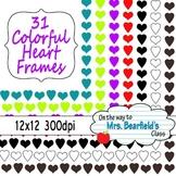 31 Colorful Heart Border Frames