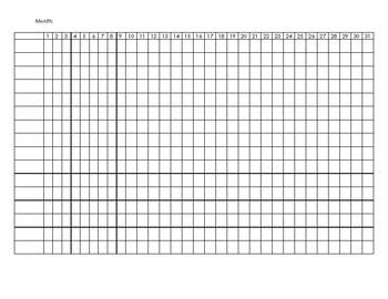 31 Day Tracker (Horizontal View)