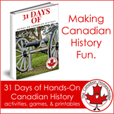31 Days of Hands-On Canadian History