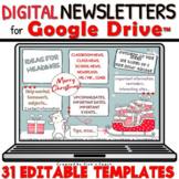 50% 31 EDITABLE newsletter templates for Christmas - Google Slides