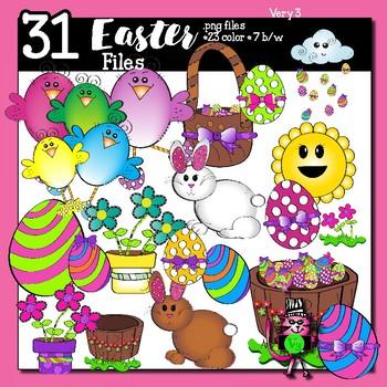 31 Easter Theme Graphics - clip art for teachers