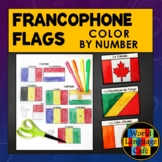French Speaking Countries Flags:  Color by Number, Francop