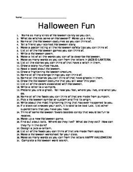 31 Halloween Activities