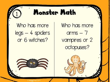 31 Halloween Maths Starters / Task cards