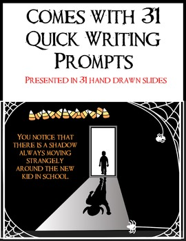 31 Halloween Writing Prompts (With Animated PowerPoint Presentation) Fun