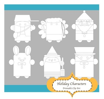 31 ~ Holiday Characters Printables Personal and Commercial Use
