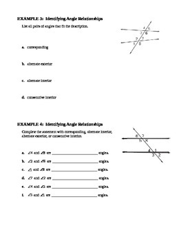 3.1 Lines and Angles