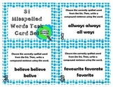 31 Misspelled Words Task Cards