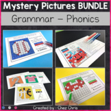 English Grammar and Phonics Mystery Pictures - Growing BUNDLE