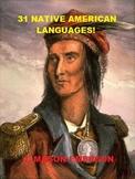31 NATIVE AMERICAN LANGUAGES (CHEROKEE, SIOUX, NAVAJO, MAYA, AZTEC/NAHUATL ETC)