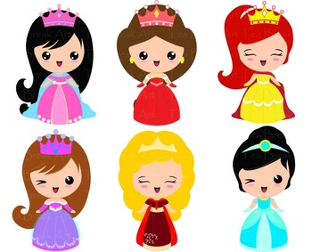 31 PNG Files- Princess ClipArt- Digital Clip Art  129