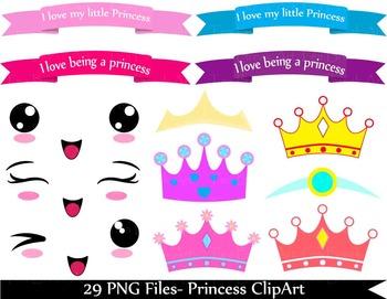 31 PNG Files- Princess ClipArt- Digital Clip Art  129