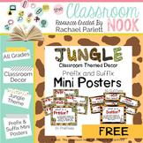 Jungle Theme: Prefix and Suffix Mini Posters