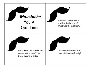 Question Cards to Be Used With Most Stories-Grades 1-2