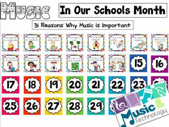 31 Reasons Why Music Is Important- Music Advocacy Bulletin Board