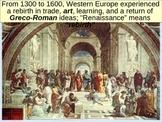 WORLD UNIT 6 LESSON 1. Rise of the Renaissance POWERPOINT