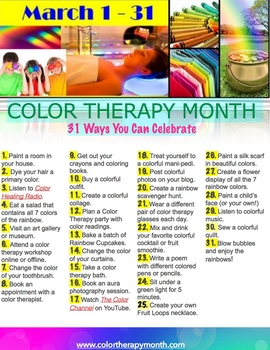 March is Color Therapy Month