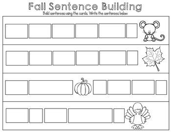 Pocket Chart Fall Sentences