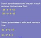 3.10 Parentheses in Number Sentences- Everyday Math, Grade 4