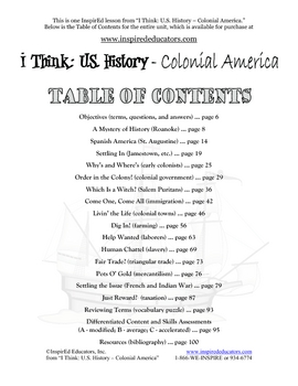 3101-4 Research an American Colony