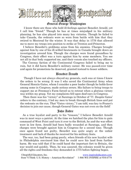 3102-13 Benedict Arnold Multiple Perspective