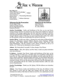 3102-4 Boston Massacre Mock Trial