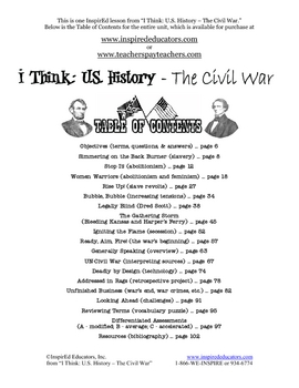 3105-5 Tensions Leading to the American Civil War