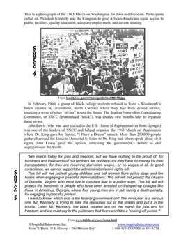 3112-6 Civil Rights Movement Primary Source Analysis