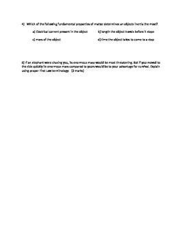 3.1.2 Quiz - Understanding Newton's First Law