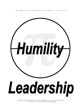 3.14159 (The Rules of Life) (Humility & Leadership) Poster