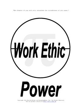 3.14159 (The Rules of Life) (Work Ethic & Power) Poster