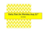 31st August Daily Plan