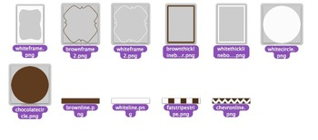 32 Borders, Clip Art, & Sheets (Chocolate Fondue Palette) Personal & Commercial