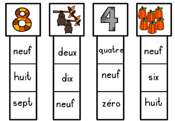 32 Cartes à Clip. French Clip cards - Numbers/Maths