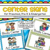 Center Signs Preschool