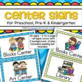 Center Signs Preschool