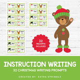 32 Christmas Instruction Writing Prompts & Recording Paper