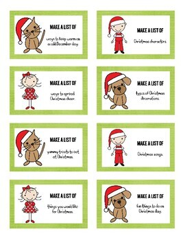 32 Christmas List Writing Prompts and Recording Sheets