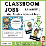 32 Classroom Jobs and Student Brag Tags *** Rainbow  ***