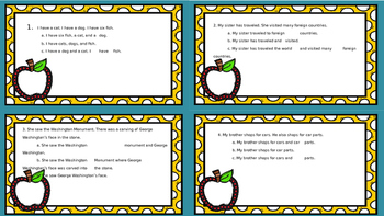 32 Combining Sentences Task Cards Subjects, Predicates, & Conjunctions