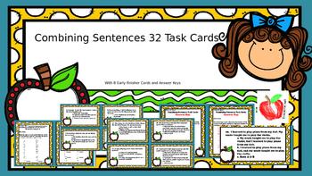 32 Combining Sentences Task Cards Subjects, Predicates, &