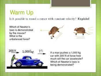 32 Daily Warm Ups to Science: Physics, Forces & Motion